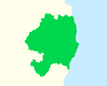 A map of county Wicklow